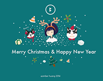『illustrator』2014 merry christmas
