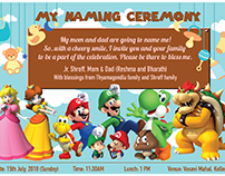 Jr. Shroff Naming Ceremony Invitation