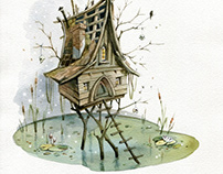 """""""Witch house"""" (book illustration, fairy tale)"""