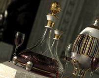 3D Fabergé Egg & Red Wine - Realisation