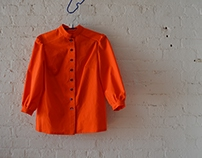 PM 121 Patternmaking 1 - Orange Blouse