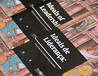 """Folleto - poster desplegable """"Ideias de Liderança"""""""