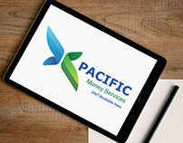 Pacific Money Services Logo Design