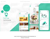 FoodHugg - Food Ordering App | UI/UX Case study