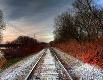 Autumn Rails - HDR Panoramic