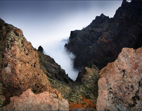Volcanic craters of Canary Island La Palma