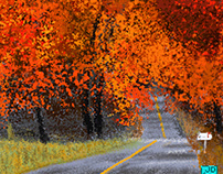 Pixel Autumn Road