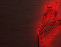 Design and visualization of neon installation