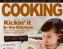 Cooking Magazine Cover and Spread