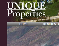 Unique Properties Real Estate Website