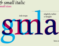 Edita, text typeface family