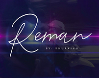 REMAN SCRIPT - FREE FONT
