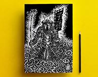 Samurai Spawn | pen drawing | 2014