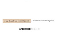 Apartheid Museum: Print | newspaper and radio campaign