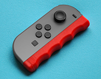 3D Printed - Ergo Handle for Nintendo Switch Controller