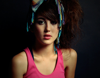 80's Portraits of a girl