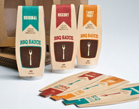 BBQ sauces packaging