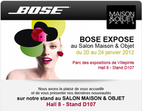 E-mailing Bose - Salon Maison & Objet