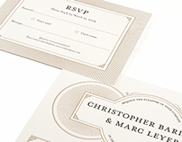 Barillas & Leyer Wedding Invitations