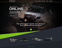 A Creative Web Landing Page For a 4 X 4 Racing Club