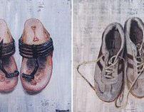 Shoe paintings. 2009