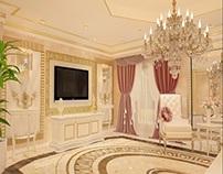 Amenajari interioare living candelabru clasic