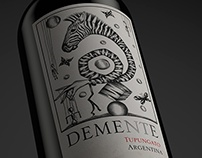 Demente Wine · Wine Label Design