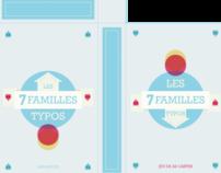 Jeu des 7 familles typographiques