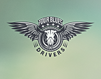 Four Blues Drivers - Logo Design
