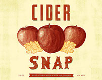 Cider Snap Label (illustration and design)