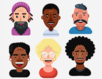 Face icons color pack