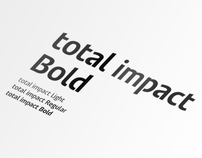total impact Typeface
