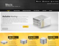 Miscis Web Hosting WebPage