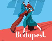 1940 Budapest poster