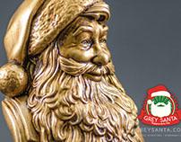 Grey Santa. Gift statuette