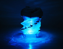 Blue Helix (Unconventional Lamp)