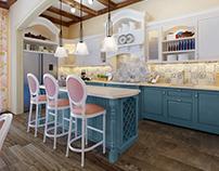 Provence living-kitchen