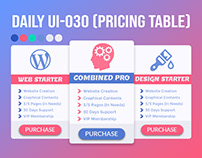 Daily UI-030 (Pricing Table)
