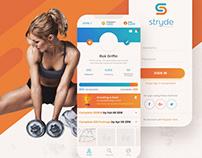 Stryde Fitness | App UI/UX Designs + Branding