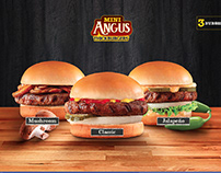 Hardees Mini Angus Thick Burgers Social Media Design