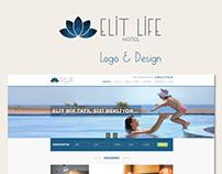 Elit Life Hotel Web & Logo