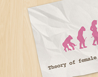 Theory of Female Negative Evolution