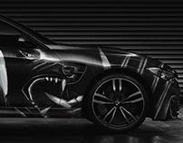 BMW M4 - Car Wrap - Wolf Illustration