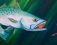Speckled Trout Oil on Canvas Lauren Ladner
