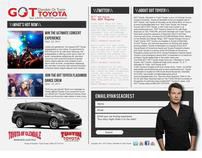 GOT Toyota Landing Page Ryan Seacrest Email Form