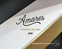 AMARES sea food delicatessen by dumdum design