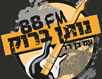 Rock music radio show branding
