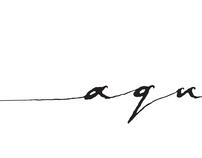 AQUASEEN // handrawn logo