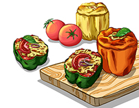 Stuffed Peppers Illustrated Recipe