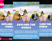 Travel Flyer Template + Social Media Post